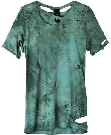 Destroyed Teal Shirt _--derelicte in a D (waterbury green methinx) color!! hellyeah   aaand the maker is a brand named Obesity and Speed ! awesome :D