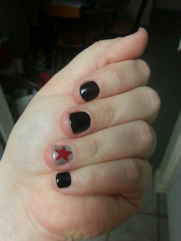 Marvel Winter Soldier themed nails   All Things MARVEL   Pinterest ...