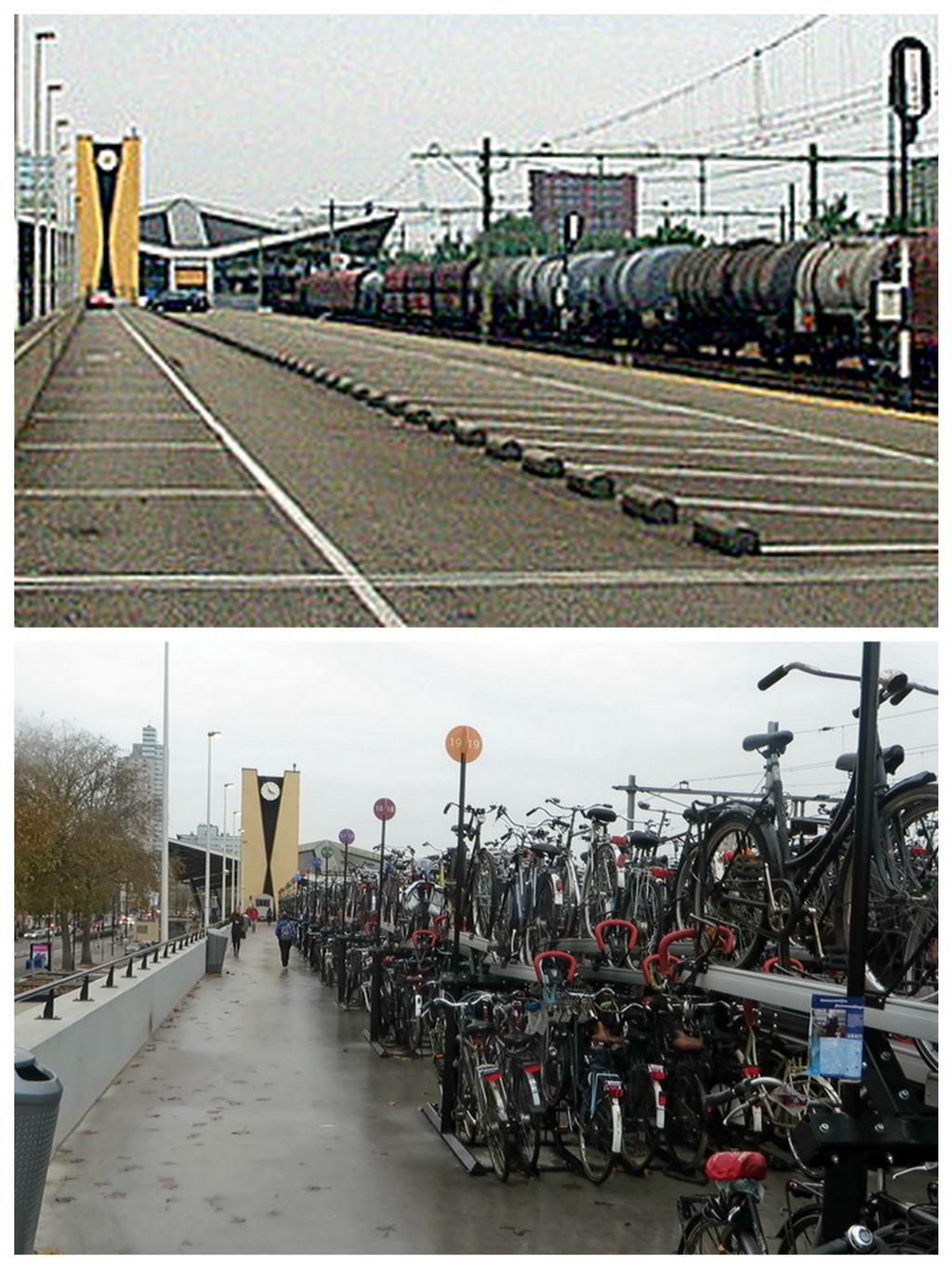 A disused postal platform at the central station in Tilburg, NL was recently converted into bike parking. Click image for link to full story and visit the slowottawa.ca boards >> >> https://www.pinterest.com/slowottawa/