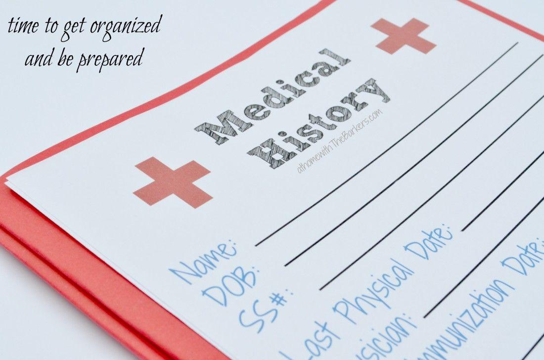 Medical History Free Printable  Medical History Free Printable