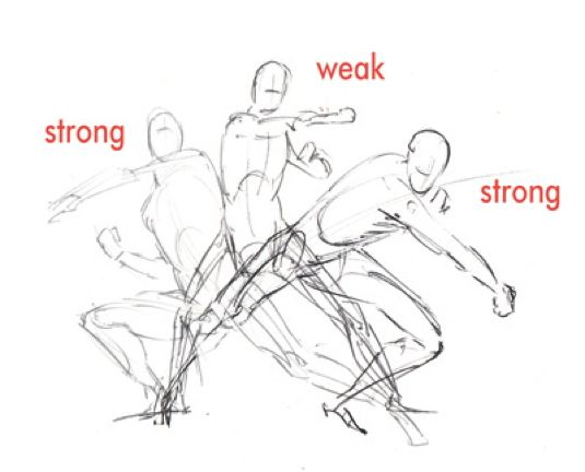 How To Draw A Knockout Action Scene Drawings Drawing People Scene