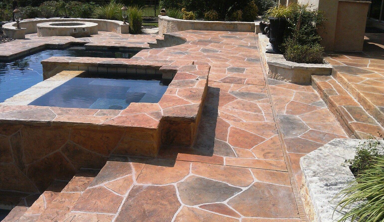 sun stone pool deck - decorative concrete overlay - www.sundek