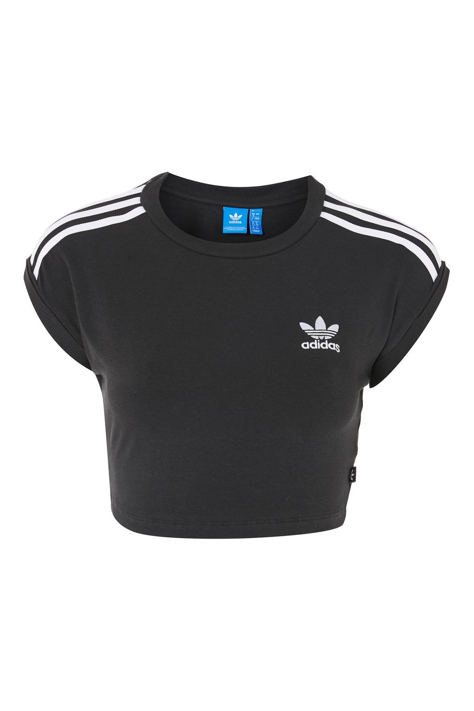 3 Stripe Crop Top by Adidas Originals   Tops   Crop tops