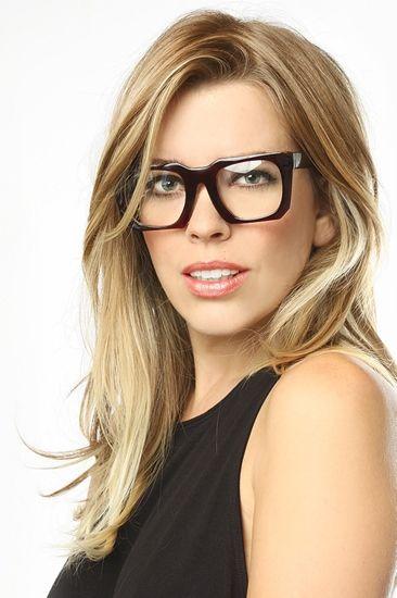 322ecf1e38 Abilene  Thick Frame Clear Wayfarer Glasses - Brown - 5634-3