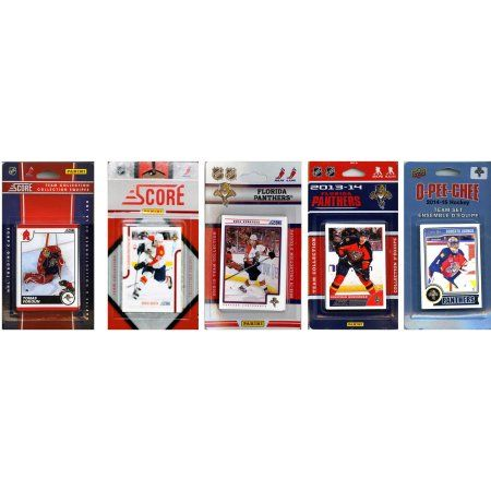 C Collectables NHL Florida Panthers 5 Different Licensed Trading Card Team Sets