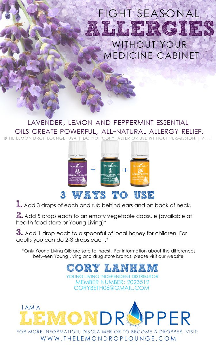 Young Living Oils for Allergies