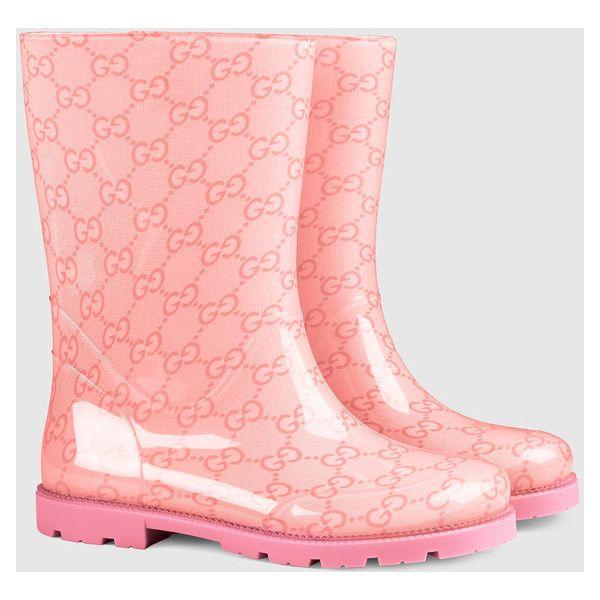 Gucci Children'S Gg Rubber Rain Boot