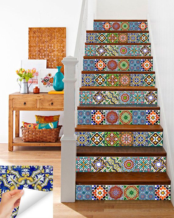 carrelage stickers spanish Set of 24 Tiles Decals Tiles Stickers Tiles for walls Kitchen Bathroom AB2 is part of Tile decals - AlegriaM ref listingshopheaderitemcountitems