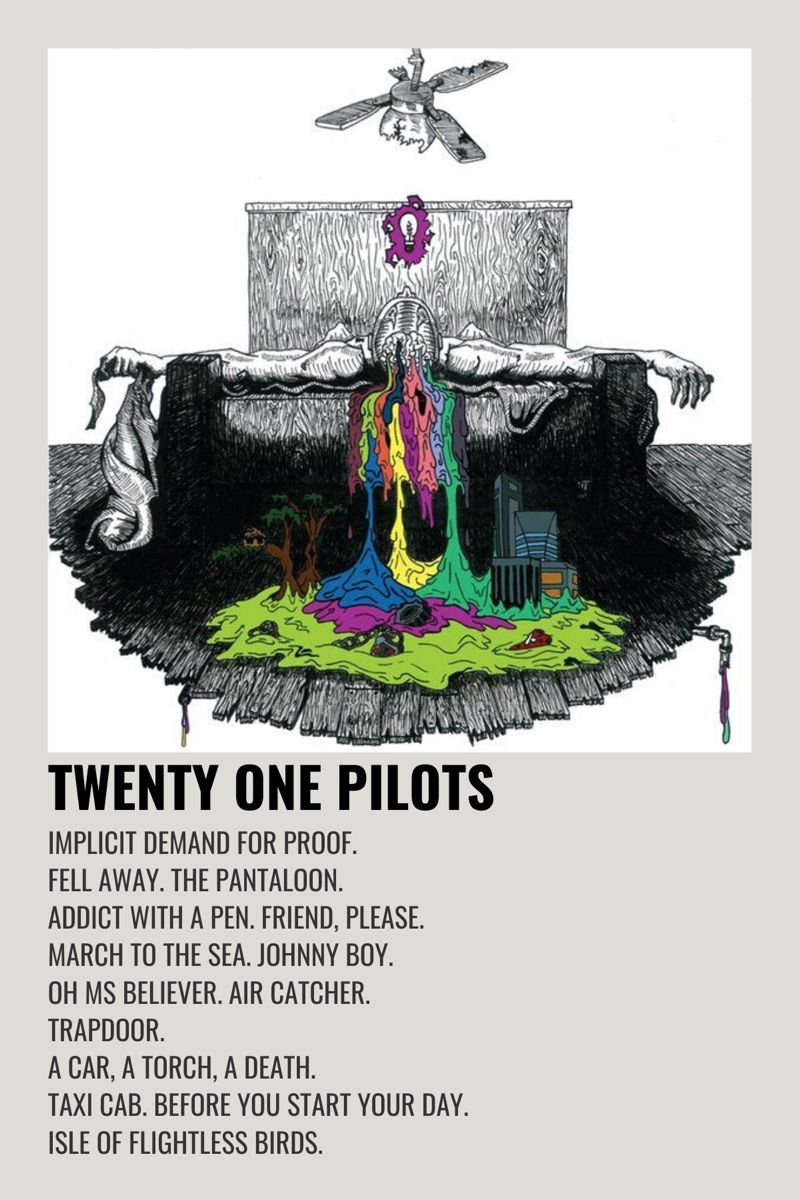 Twenty One Pilots Self Titled Music Poster Design Minimalist Poster Music Poster Ideas