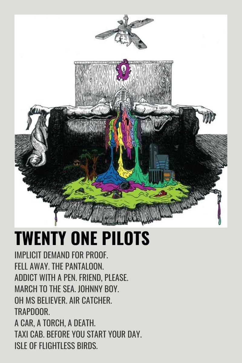 Twenty One Pilots Self Titled Music Poster Design Minimalist Poster Poster Prints
