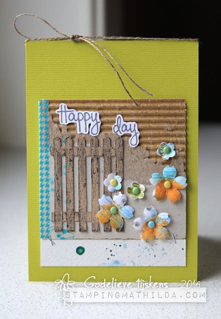 StampingMathilda: Birthday Card using Darkroom Door Gardening Vol 2 Rubber Stamps. http://www.darkroomdoor.com/rubber-stamp-sets/rubber-stamp-set-gardening-vol-2