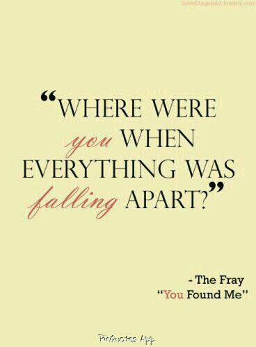 The Fray You Found Me Lost Insecure You Found Me You