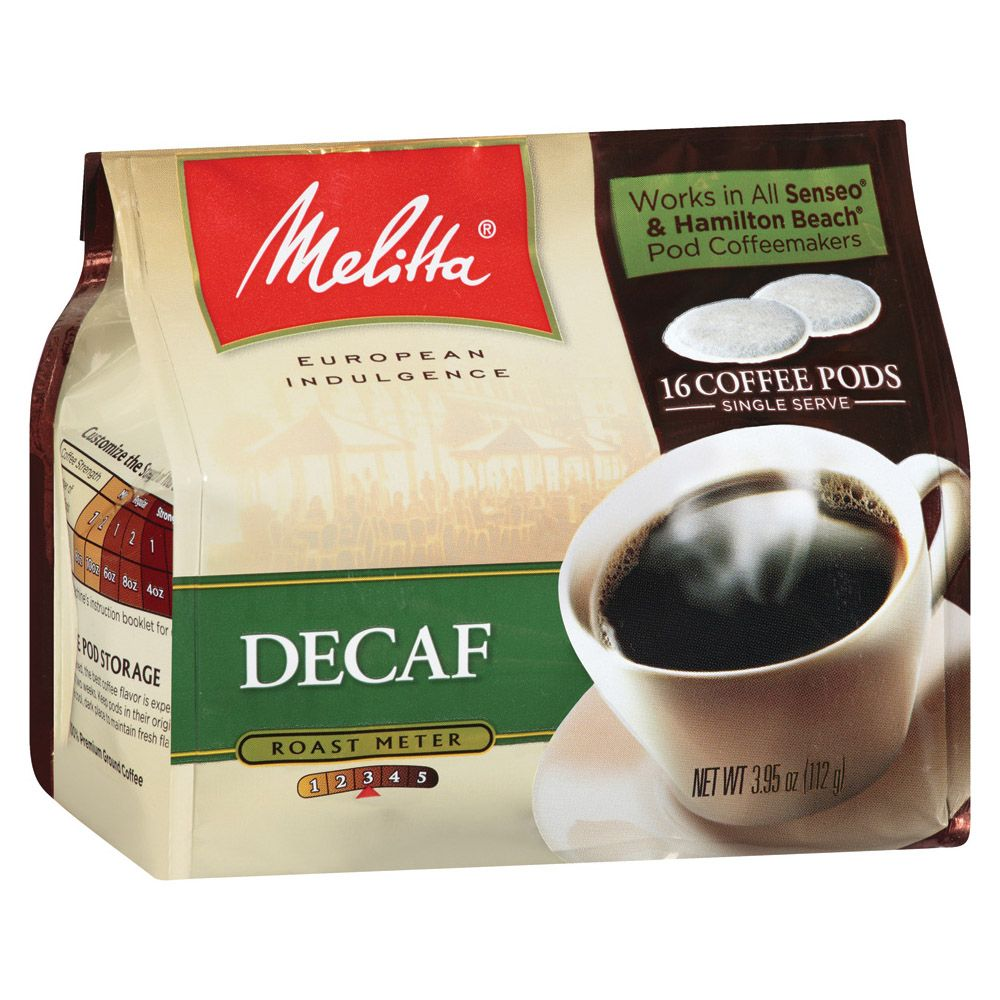 Melitta Decaf Pods are roasted medium for a balanced body