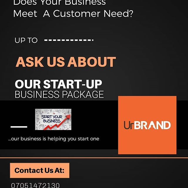 Does Your Business Meet A Customer Need?  @urbrand_ng  our business is helping you start one.  Free Business Consultancy for the first business.  N.B: Offer last till 05/07/2020  #businesstips #businesses #startup #businessstartup #branding  #consultancy #abuja #Lagos #portharcourt #Ilorin #Nigeria #africa