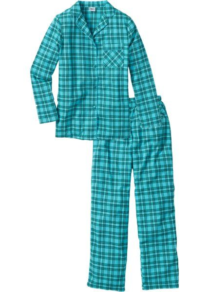 Weicher Pyjama In Lockerer Passform Petrol Kariert Flanell Pyjama Pyjama Flanell