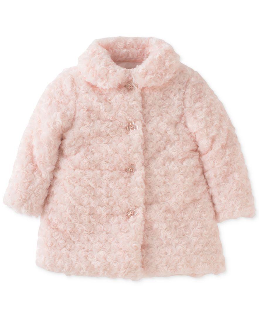 Calvin Klein Toddler Girls Faux Fur Coat Kids Baby Macy S Girls Faux Fur Coat Pink Faux Fur Jacket Fur Coat