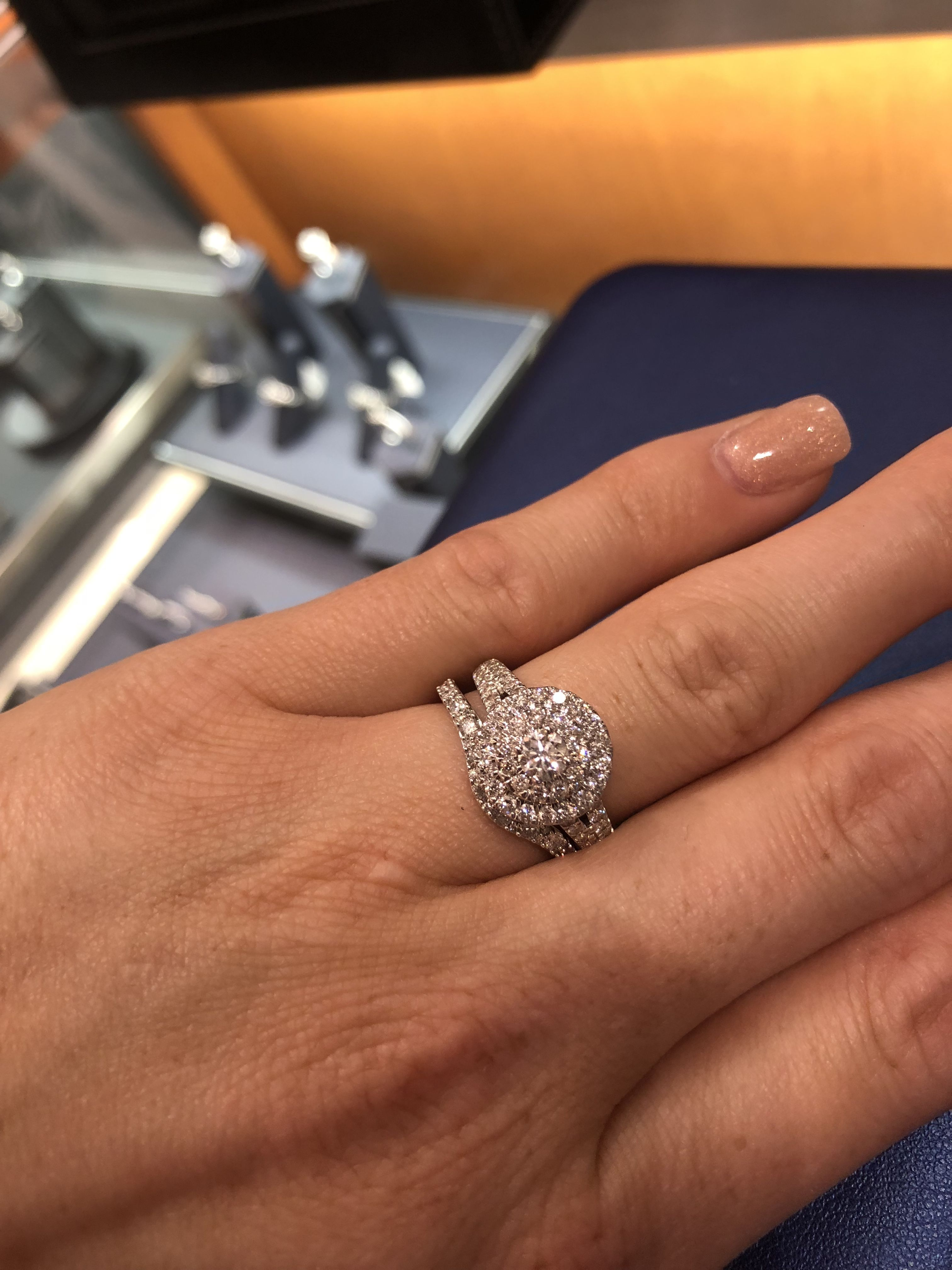 Zales Zales 1 1 2 Ct T W Composite Diamond Frame Engagement Ring In 14k White Gold Big Engagement Rings 14k White Gold Engagement Rings Big Wedding Rings