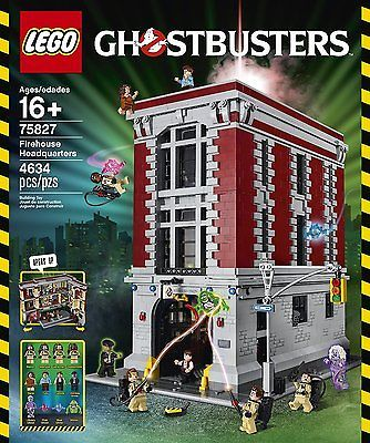 Lego Firehouse Headquarters Building Kit Ghostbusters 75827 Close