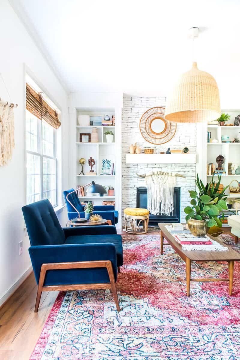 Living Room Refresh With Velvet Chairs From Article Velvet