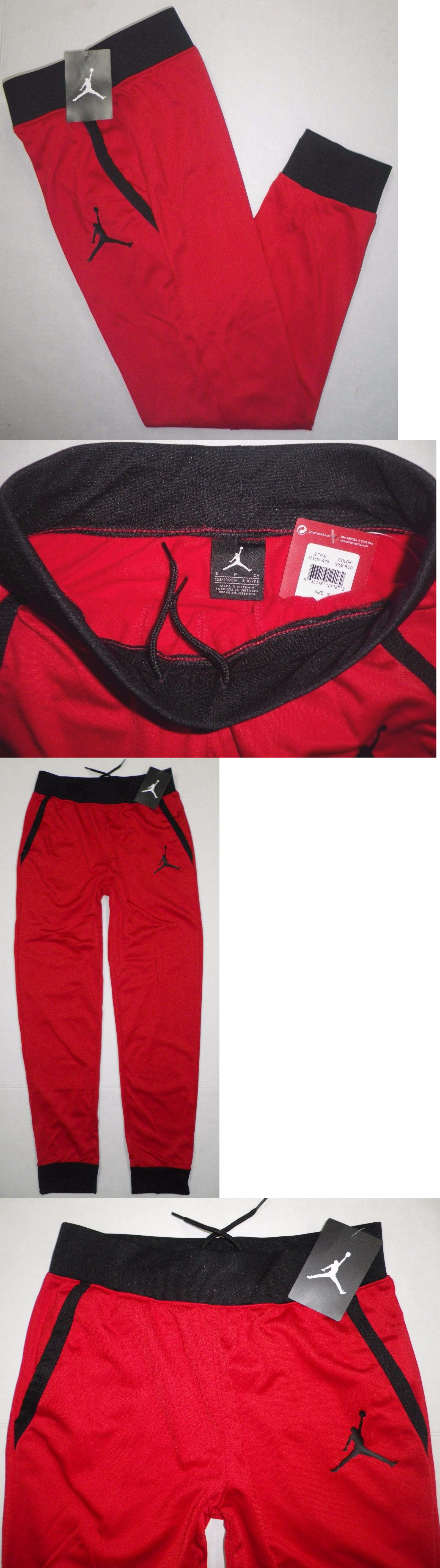 96e6275c7a1f56 Pants 51920  Nike Air Jordan Boys Jumpman Fleece Lined Jogger Sweat Pants  Red Blk Youth Small -  BUY IT NOW ONLY   35.99 on eBay!