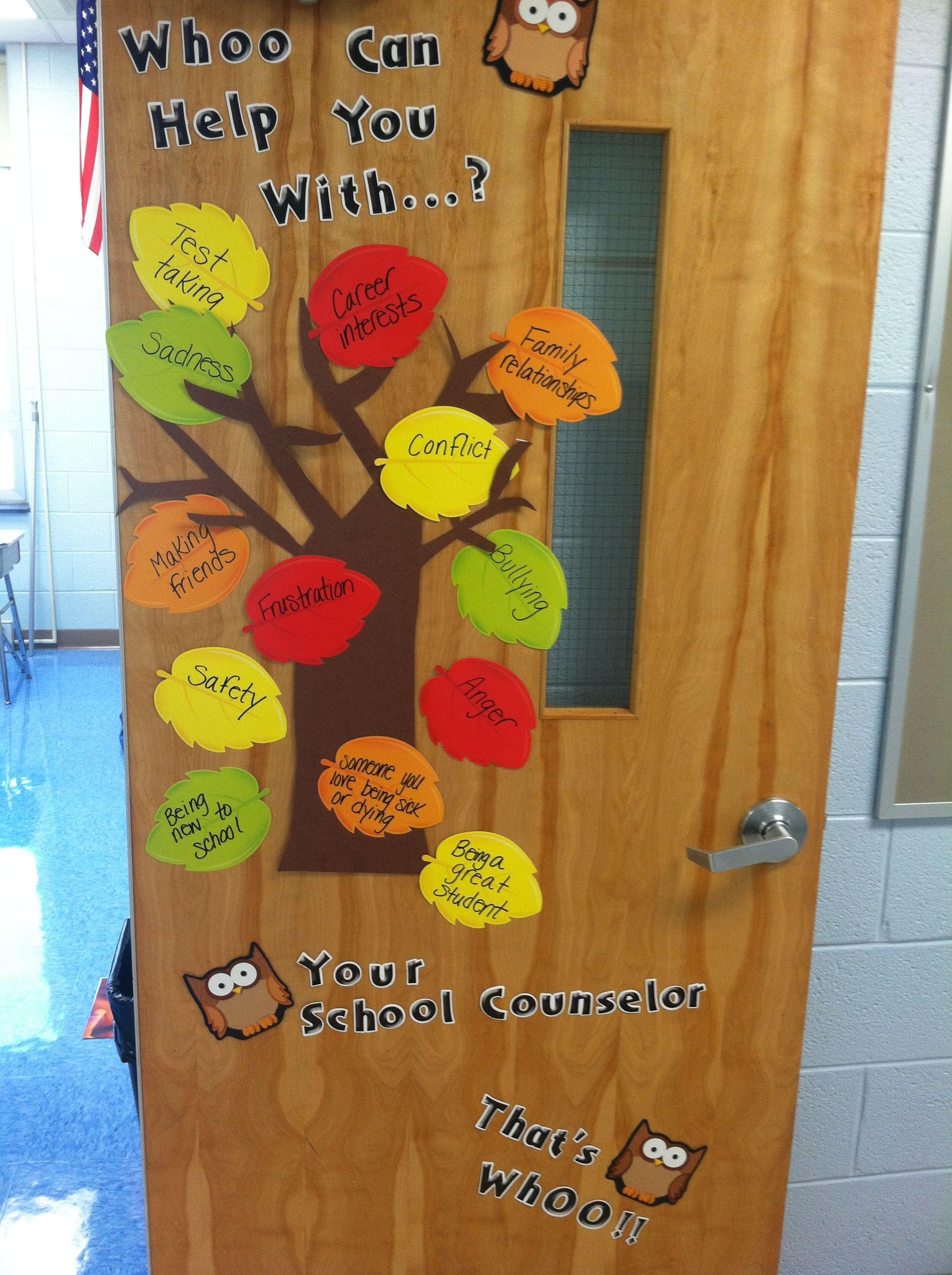 School Counselor Office Door Decoration Bulletin Board Ideas