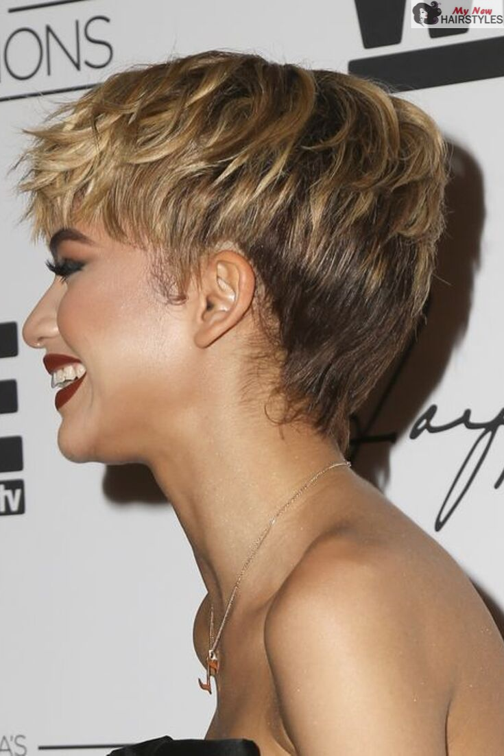 55 Ravishing Short Hairstyles for Ladies with Thick Hair | Zendaya hair, Short  hair styles, Thick hair styles