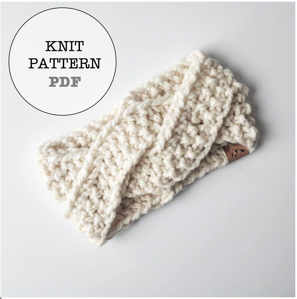 Knitting Pattern / Alaskan Knot Headband Knitting Pattern ...