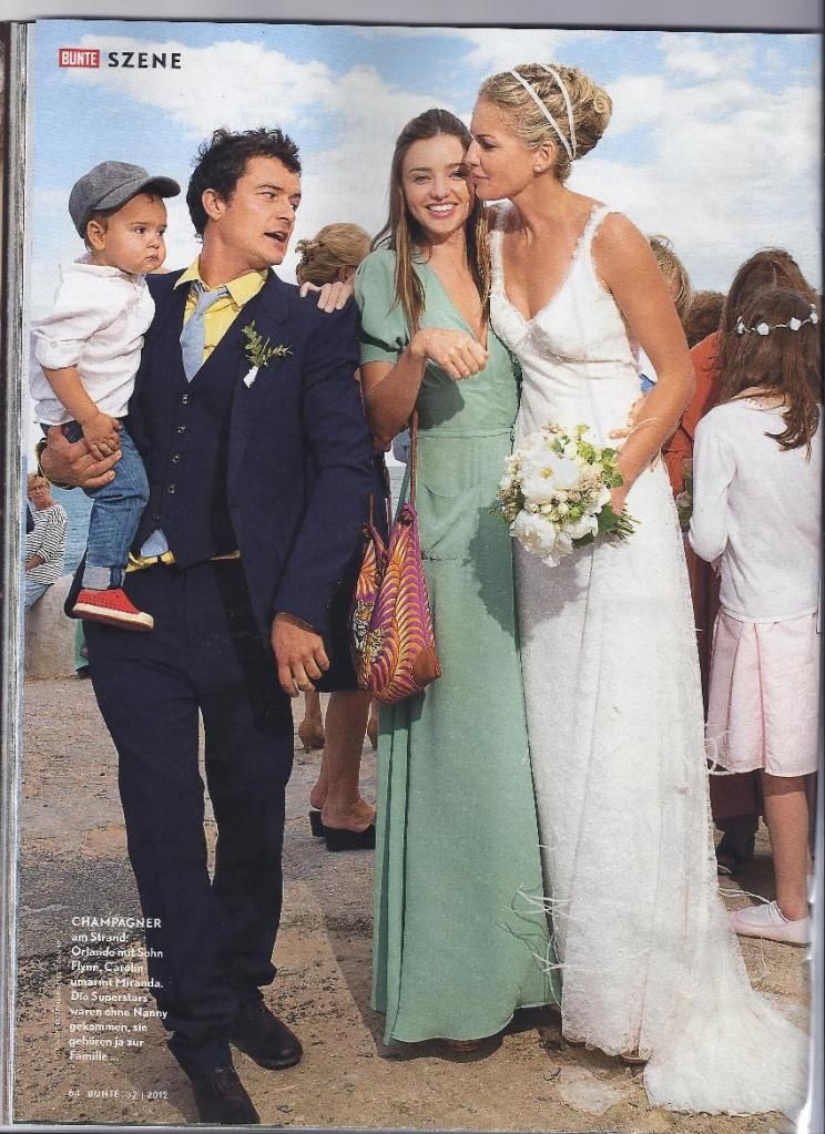 Miranda Kerrorlando Bloom A Friends Wedding Wedding Dress