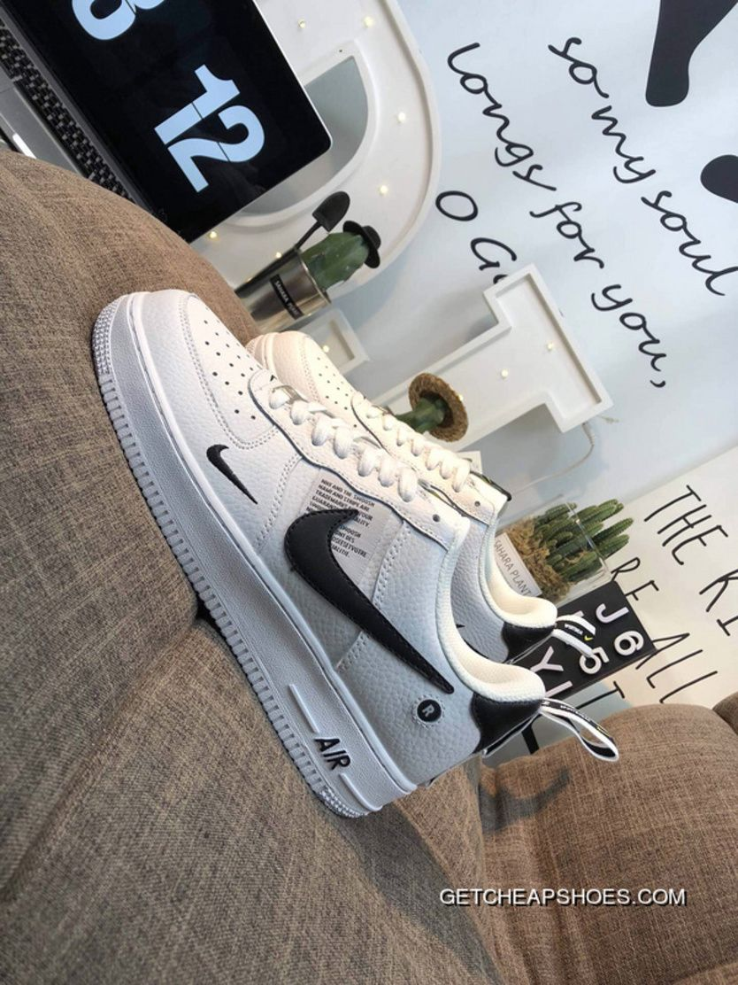 best website 285fa e9ad0 Women Men Latest Nike Air Force One AJ7747-100 R Hook Classic All-Match  Sneakers White And Black
