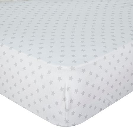 Exclusive Grey Stars Cot Fitted Sheet 2 Pk