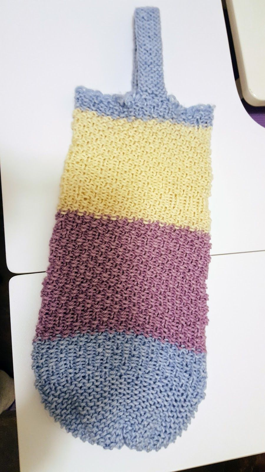 Loom Knit Tote Free pattern in Craft Craze Group | Neulerengas ...
