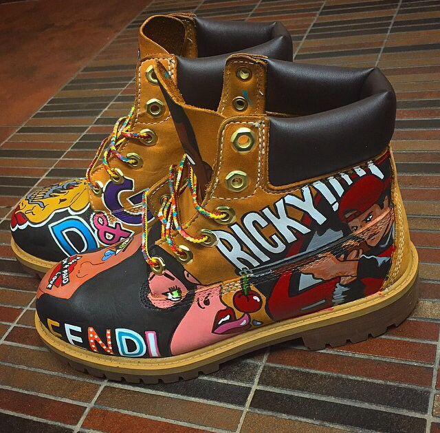 Custom Timberlands Timberlands Shoes Diy Sneakers Cute
