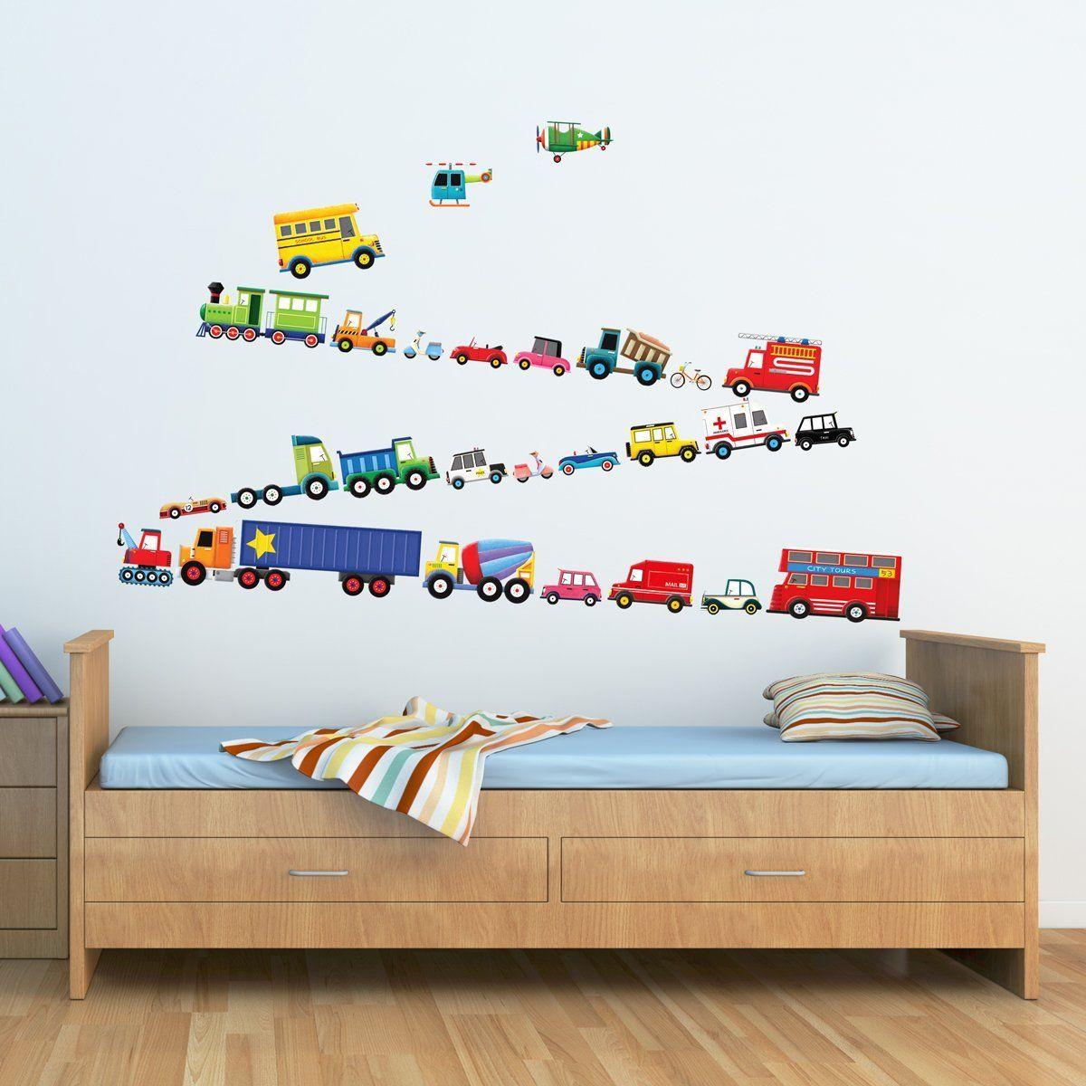 Amazon Com Decowall Dw 1605 27 Transports Kids Wall Decals Wall Stickers Peel And Stick Removab Kids Bedroom Wall Decor Kids Wall Decals Nursery Wall Stickers [ 1200 x 1200 Pixel ]