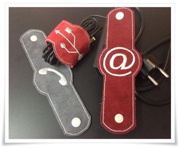 Stickmuster - •Kabelbinder ITH• 13x18cm - ein Designerstück von Bastelfreakz-Embroidery bei DaWanda