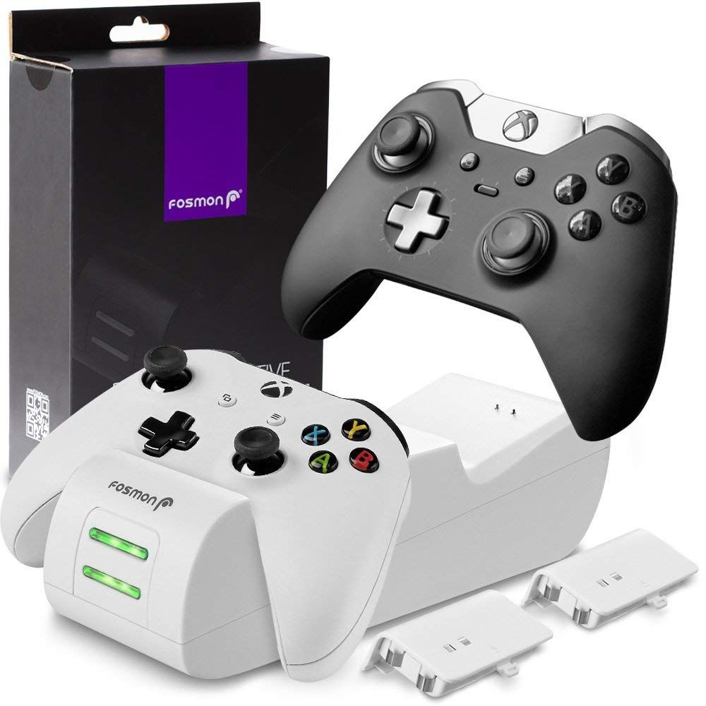 Longer Lasting Rechargeable Batteries Fosmon S Xbox One Controller Charging Station Provides Up To 30 33 Hou With Images Charging Docking Station Charging Station Xbox One