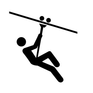 ziplining icon clip art zipline pinterest clip art clipart rh pinterest com