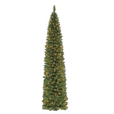 prelit artificial christmas tree berkley pencil pre lit artificial christmas tree american sale - American Sales Christmas Decorations