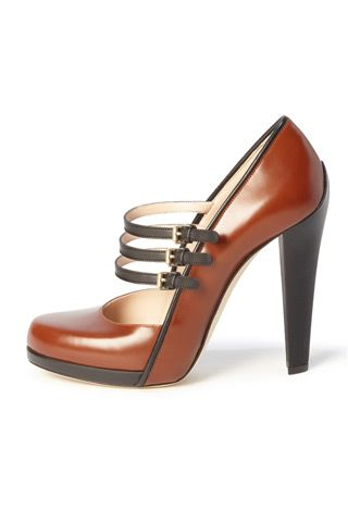 4 Glamorous Brown Bally High Heels .