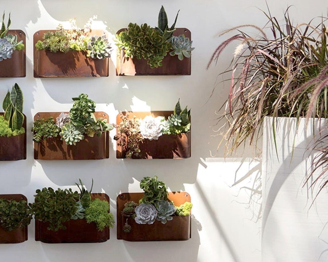 Hanging Planter Rust Planter Succulent Planter Air Plant Planter Copper Planter Wall Planter Hanging Planters Wall Planter Succulent Planter
