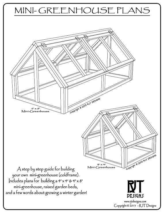 Mini Greenhouse Plans Pdf Version Etsy In 2021 Mini Greenhouse Greenhouse Plans Greenhouse