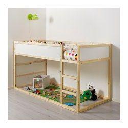 KURA Reversible bed white, pine Twin Ikea bunk bed