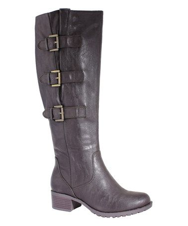 $60 Look what I found on #zulily! Cocoa Knoxville Extra Wide-Calf Boot by Intaglia #zulilyfinds