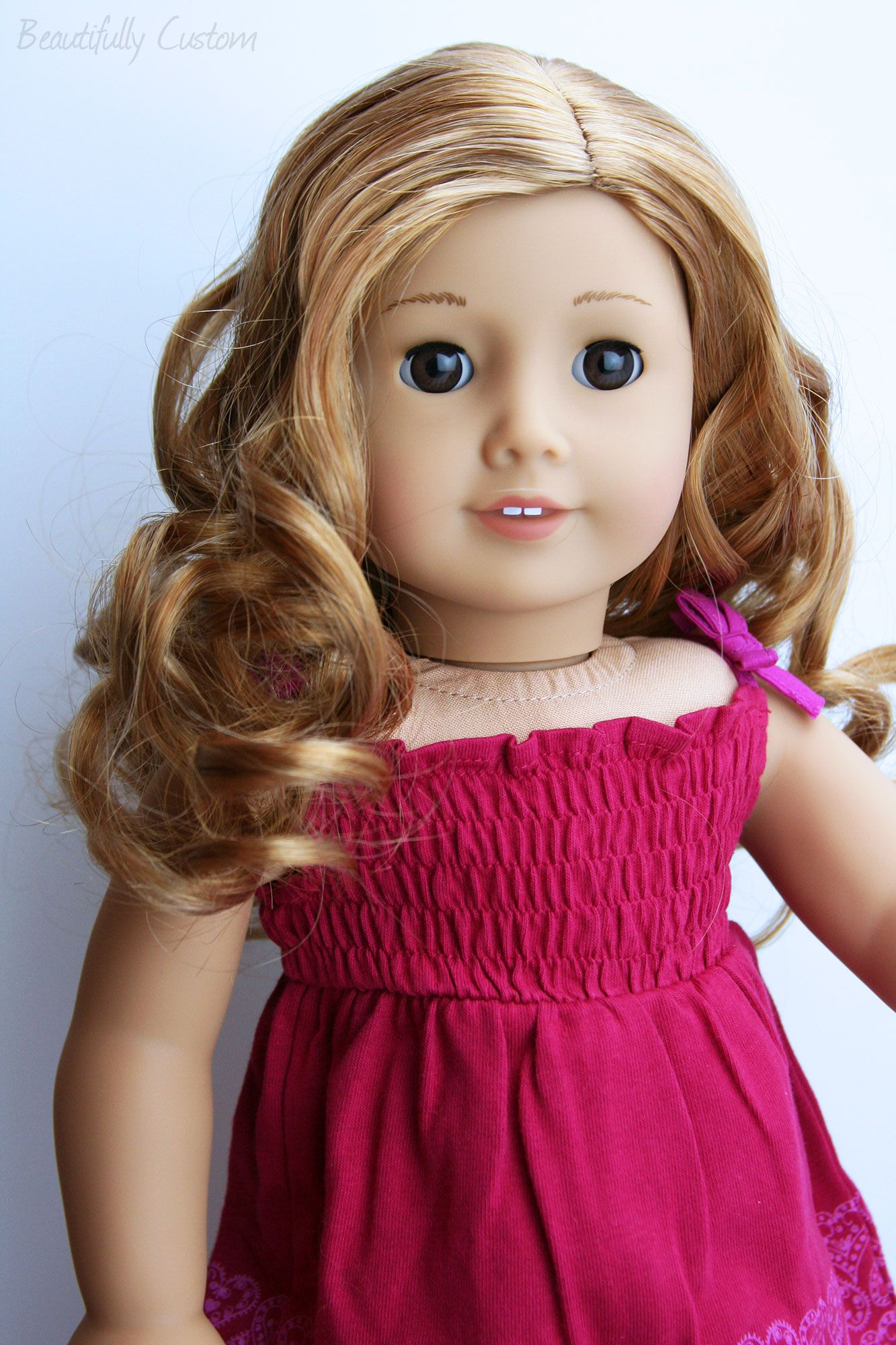 Custom American Girl Doll ~ Brown Eyes and Curly Light ...