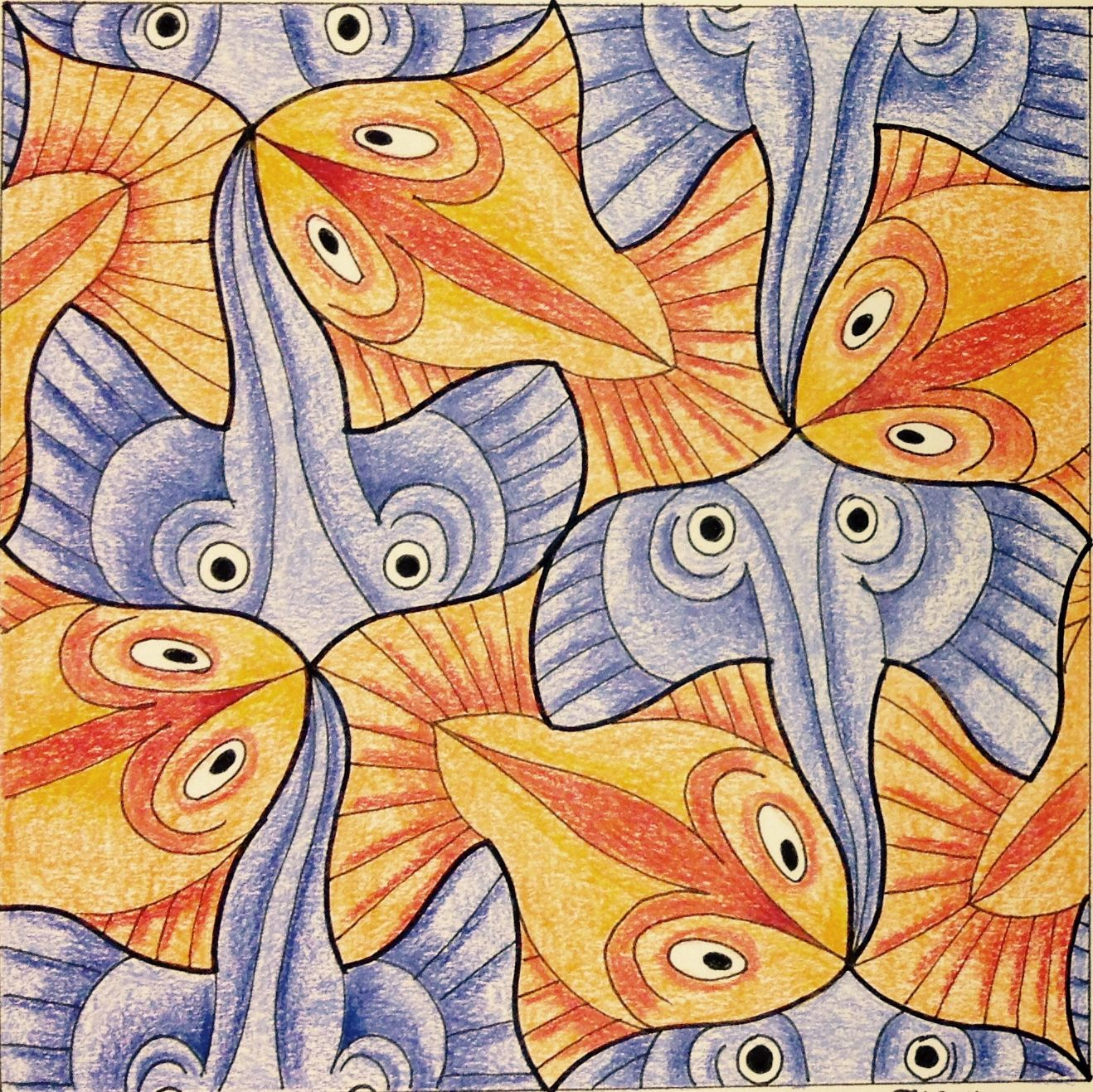 Escher Tessellation Tiling Mc Escher Geometry