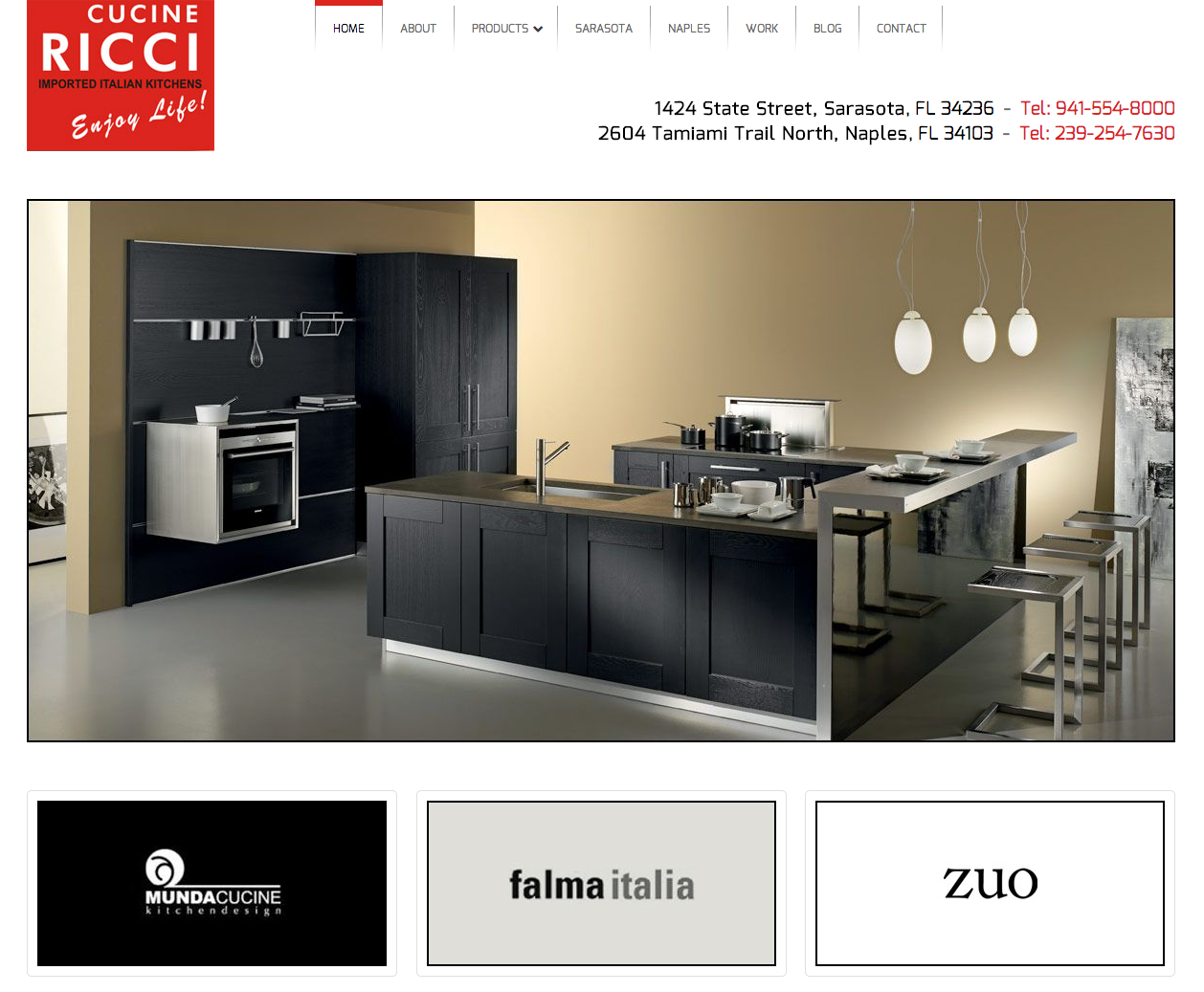Cucine Ricci Has Custommade Italian Kitchens And A New Website Magnificent Kitchen Design Website Design Decoration
