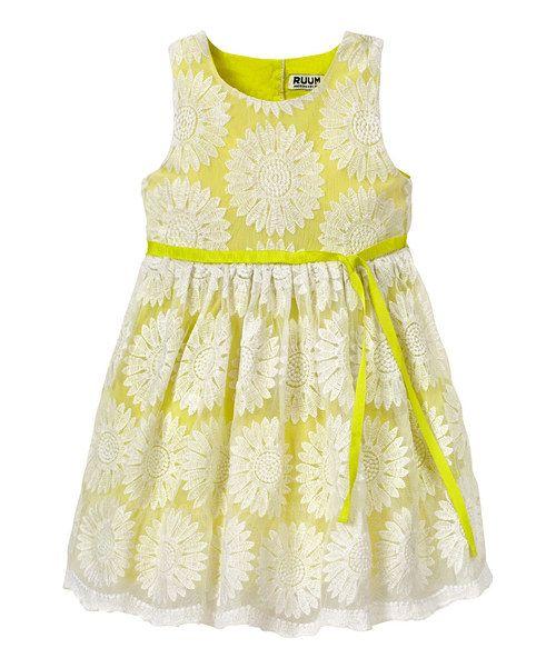6b6a3a17a4f Yellow Embroidered Flower Dress - Infant   Toddler by RUUM  zulily   zulilyfinds