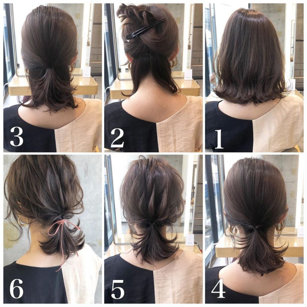 Easy Short Hair Tutorial Ponytail Free Concealed Rubber With Strap Short Hair Styles Easy Short Hair Tutorial Ponytail Hairstyles Tutorial