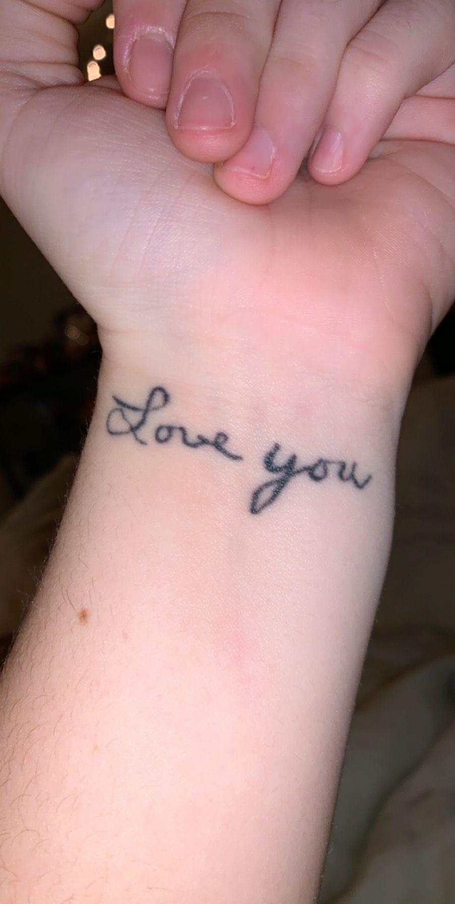 Grandparents handwriting tattoo memorial tattoo (With