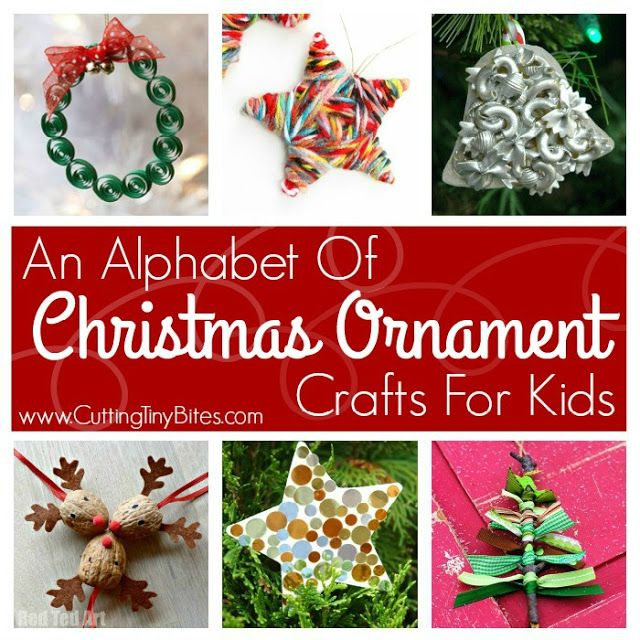 Great collection of Christmas ornaments that kids can make. Craft choices for preschoolers and elementary.