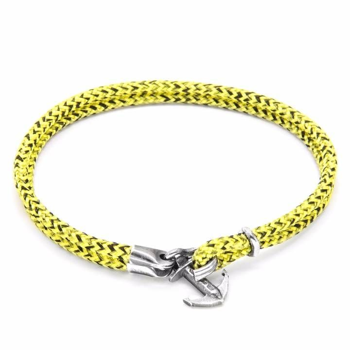 Anchor & Crew Blue Noir Admiral Silver And Rope Bracelet CU15aFBkuy